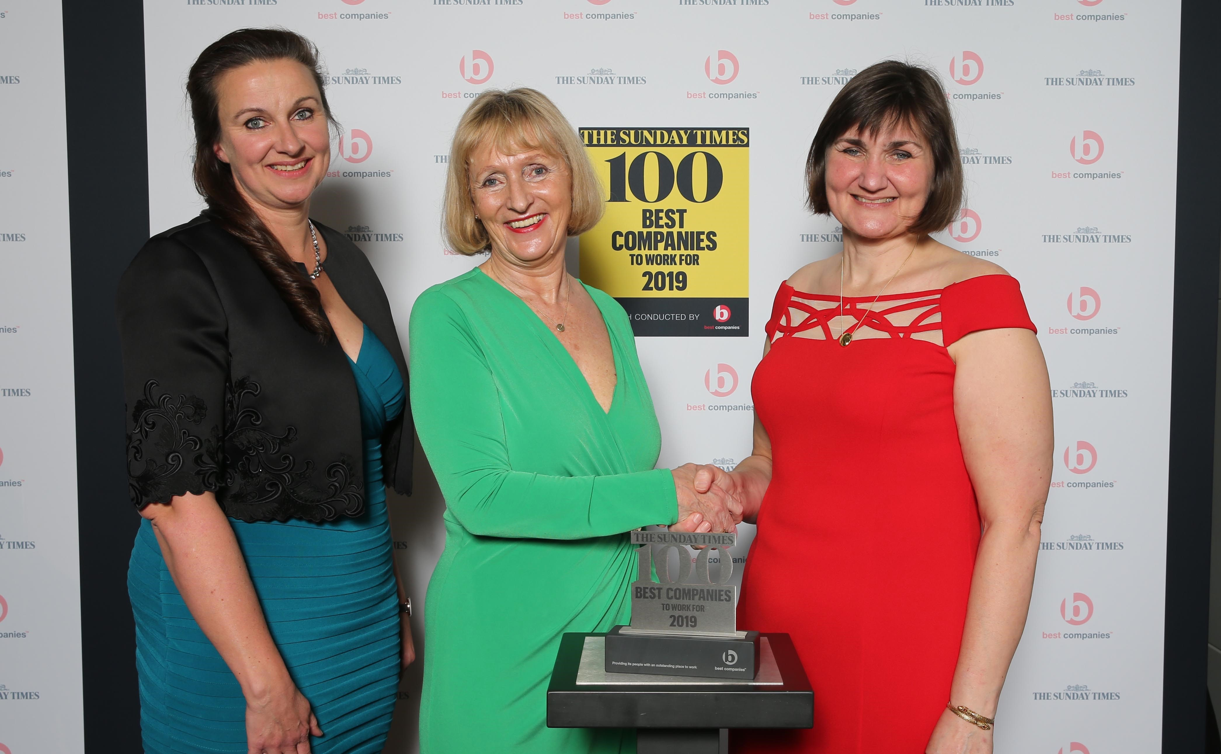 Kate Bendall Louise Laver presented with 2019 Best Companies to Work For Award
