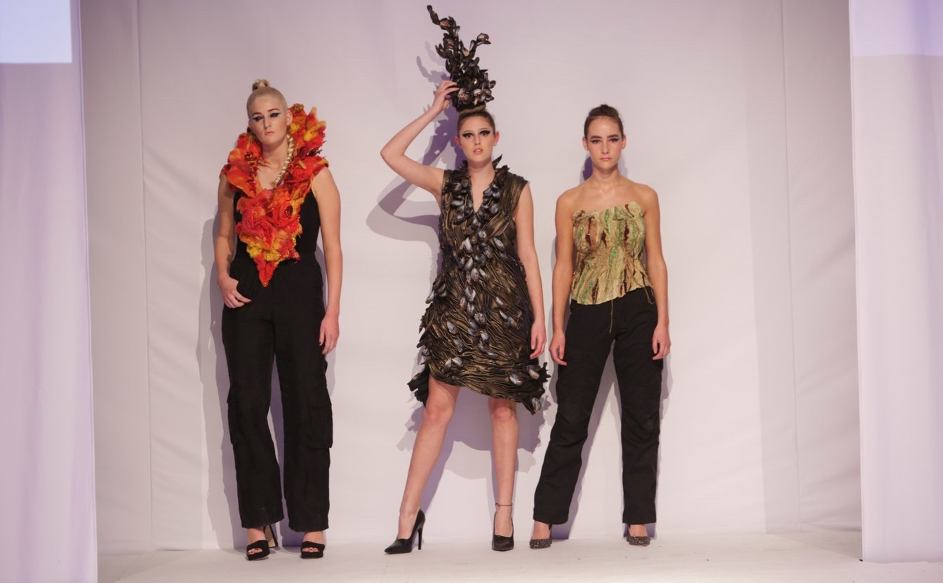 The garments were designed and produced by students as part of their examination level work for GCSE and A-level art