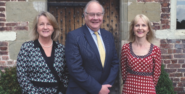 Head of Moreton First, Catherine Ford; principal of Moreton Hall, Jonathan Forster; and international director, Victoria Eastman