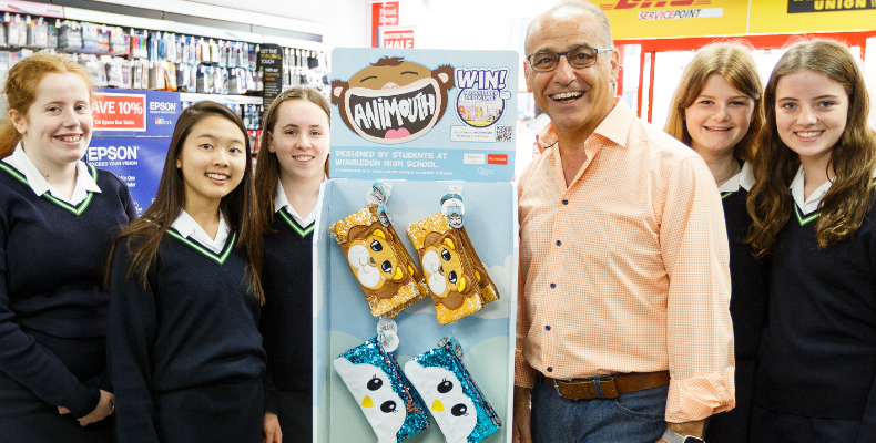 The designers with Theo Paphitis