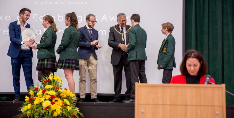 An award presentation evening was held at the school to mark the achievement