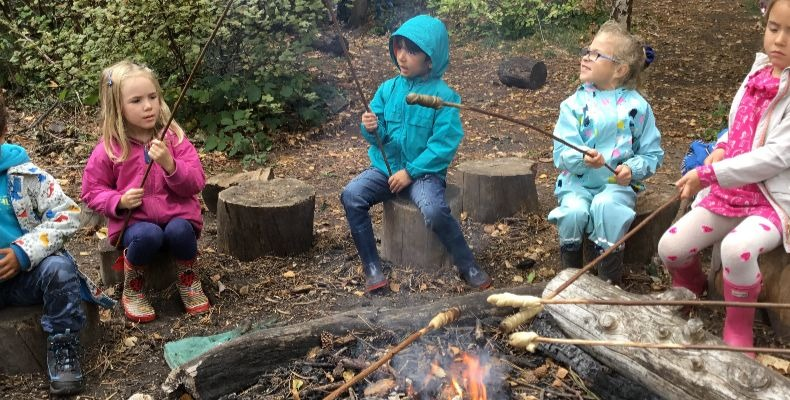 The first UK Forest School was set up in Somerset in 1993