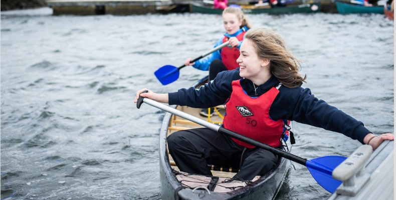 Pupils at Lomond School are encouraged to go on outdoor adventures, whether it is canoeing, cycling or hiking