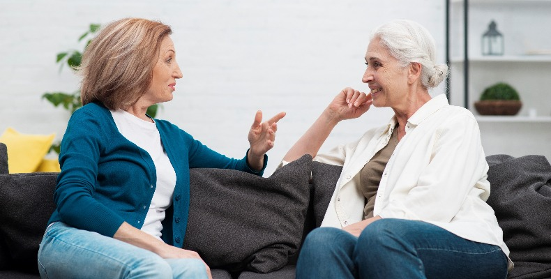 Trained points of contact are advised for menopause-related issues