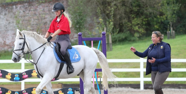 Bryanston's refurbished equestrian centre features outdoor arenas for show jumping and dressage, and an indoor training school