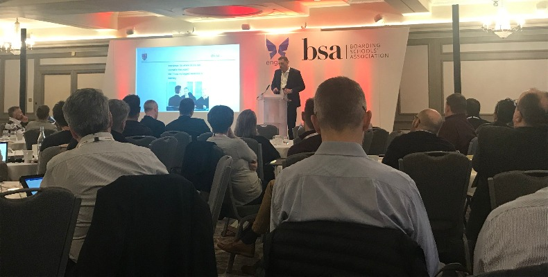 Chris Seal addressing delegates at the BSA conference at Bristol's Marriott Royal Hotel