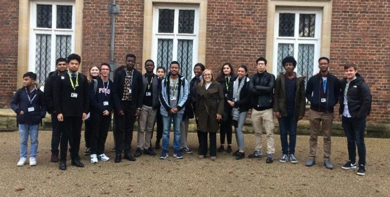 Newham Sixth Form College students at Eton College