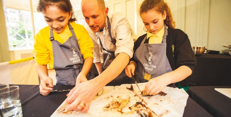 A competition will see students have the chance to work with mentor chefs (Pictured: Charlton Manor Primary School)