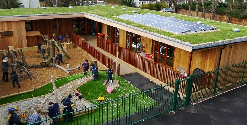 The Learning Escape nursery block at Bickley Park School, designed and built by TG Escapes