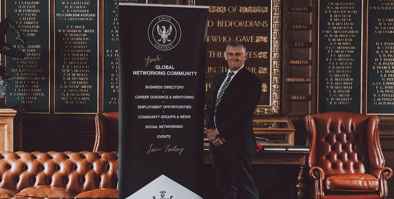 Hugh Maltby, director of the Bedford School Association, says Eagle Connect was a natural next step for digitising their alumni network