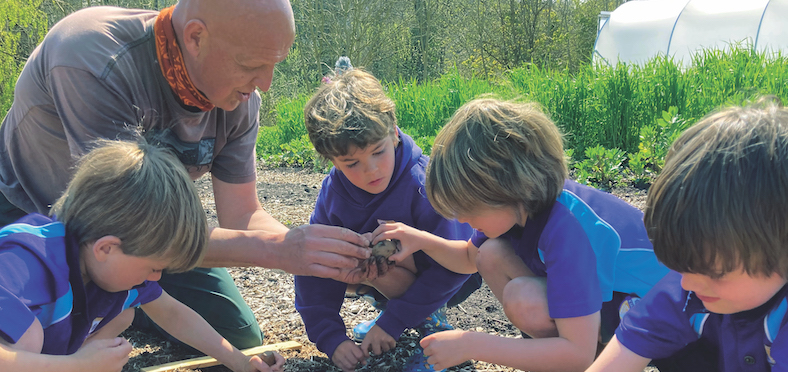 Kingsley School pupils learning at the Earth Centre