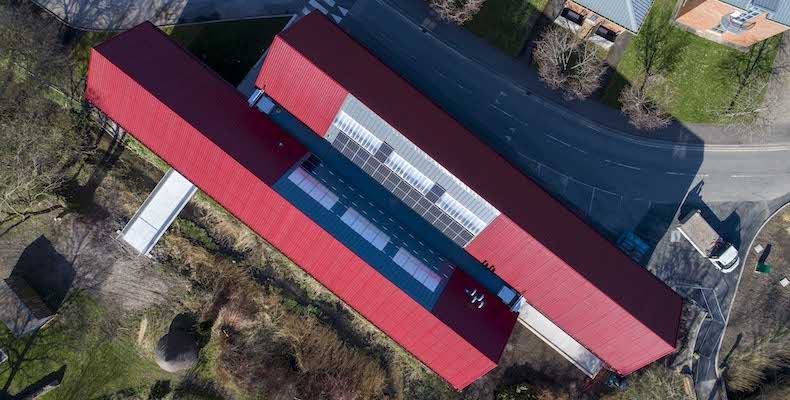 The Innovation Centre draws on solar power from photovoltaic panels