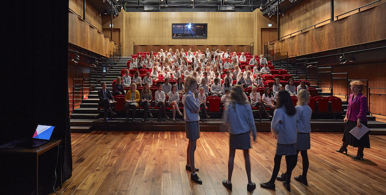 Lady Eleanor Holles School theatre (Picture credit: Dennis Gilbert)